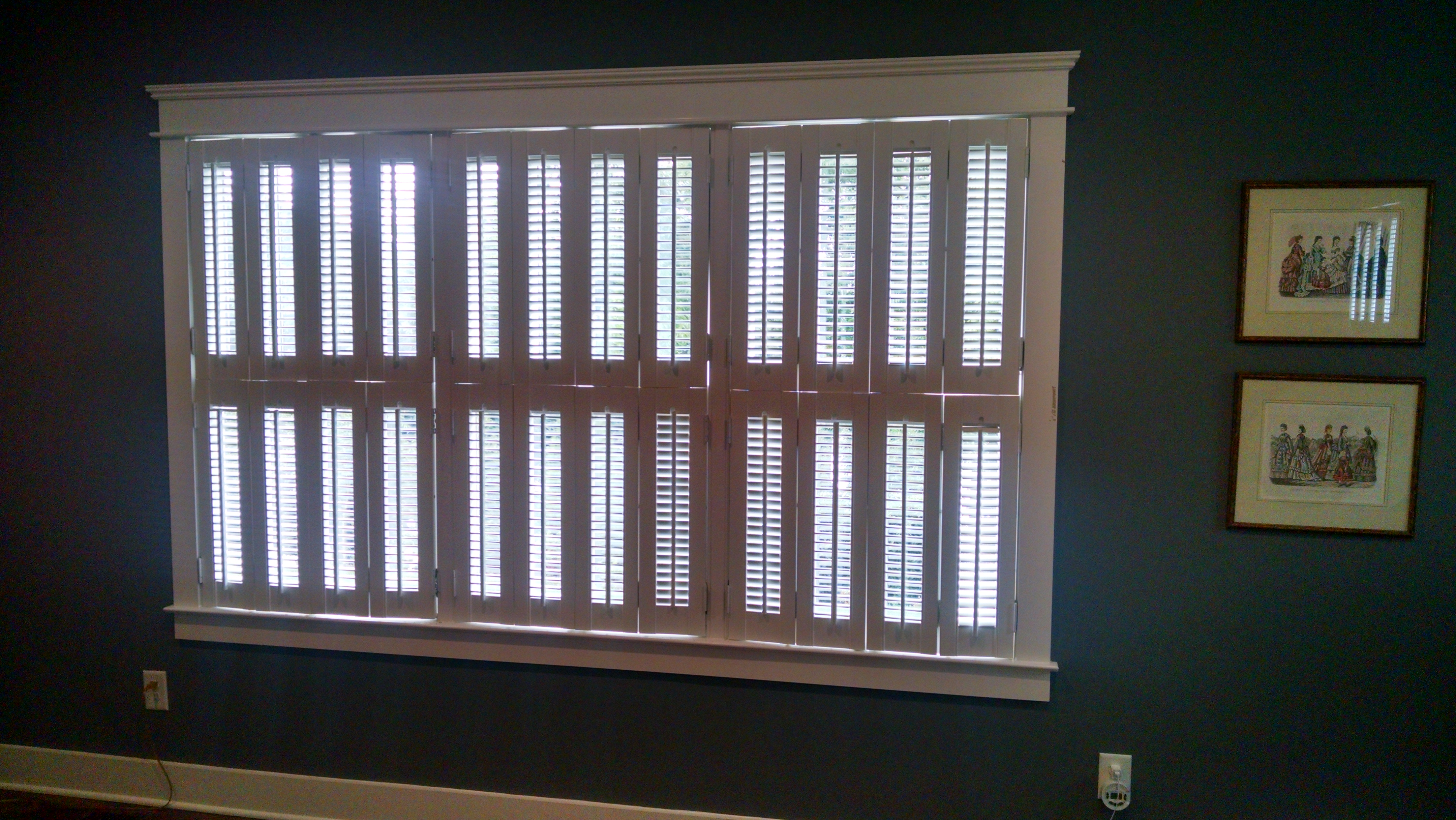 atlantic wood series painted cafe top traditional planataton shutter
