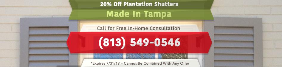 20% Off Plantation Shutters
