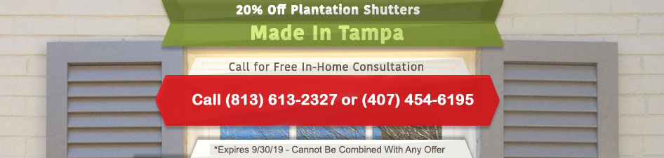 20% Off Plantation Shutters