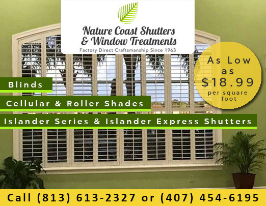 Nature Coast Shutters & Window Treatments Specials